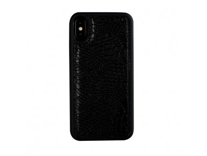Apple iPhone X Real Leather Back Cover Amour black