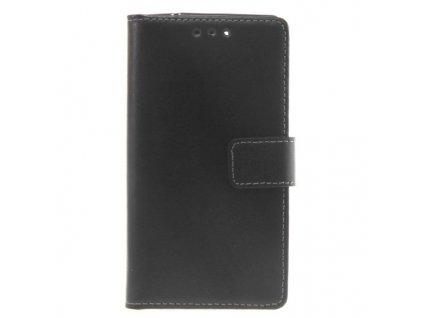Slim Book Case for Sony Xperia Z3 Compact - Black Pouzdro