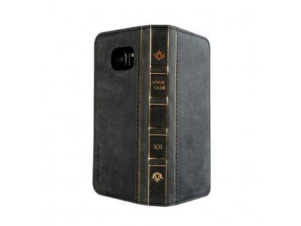 Samsung Galaxy S7 Edge Genuine Leather Bag Oud black