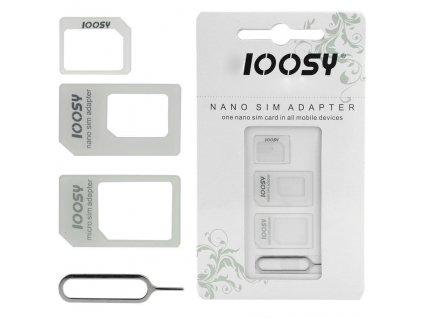NOOSY Nano/Micro SIM adaptér 3v1
