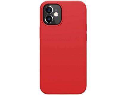 Nillkin flex case liquid silicone case červený iph12 mini