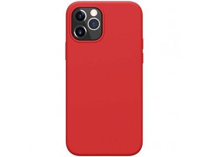 Nillkin flex case liquid silicone case červený iph12 12pro