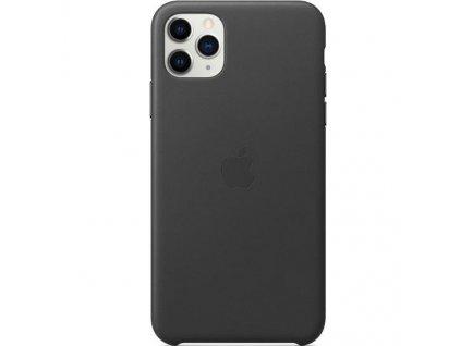 Apple Kožený Kryt pro iPhone 11 Pro Max Černé