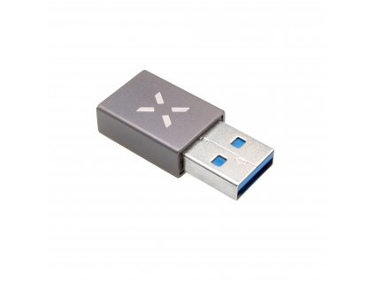 Redukce z hliníku FIXED Link USB-C na USB-A, šedá