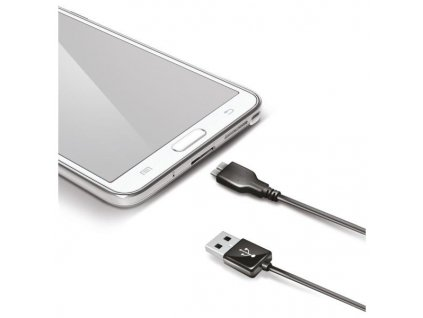 Datový USB kabel CELLY s konektorem microUSB B, USB 3.0, černý  USBNOTE3B