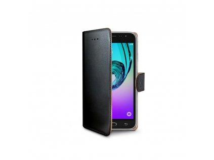 Pouzdro typu kniha CELLY Wally pro Galaxy A7 2016 ,PU kuže, cerné