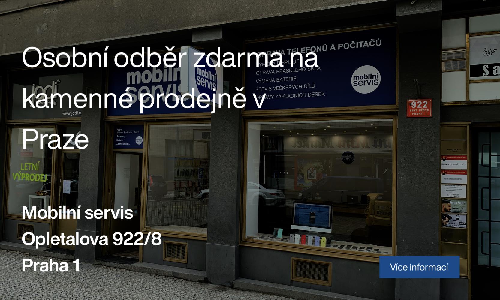 Mobilní díly na telefony Praha 1 Opletalova