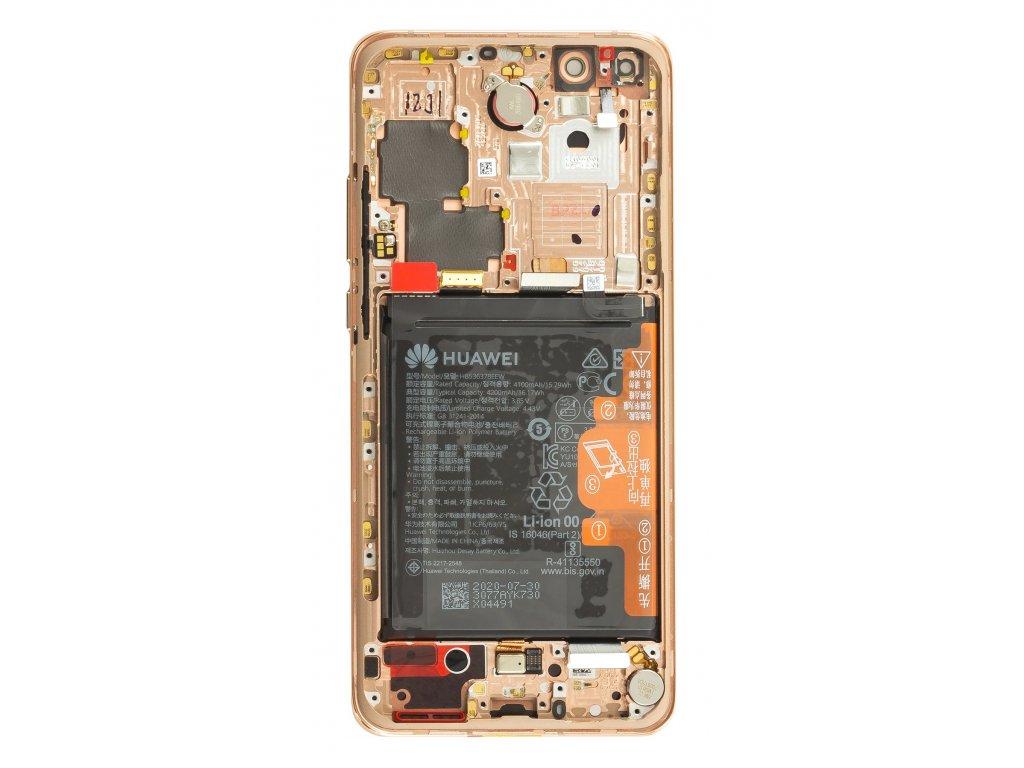 Huawei P40 Pro LCD Display + Dotyková Deska + Přední Kryt Blush Gold (Service Pack)