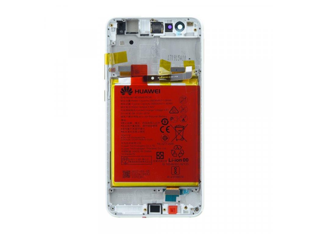 Huawei P10 Lite LCD Display + Dotyková Deska + Přední Kryt White (Service Pack)