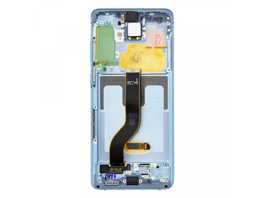 LCD display + Dotyk Samsung G986/G985 Galaxy S20+ Plus Cloud Blue (Service Pack)