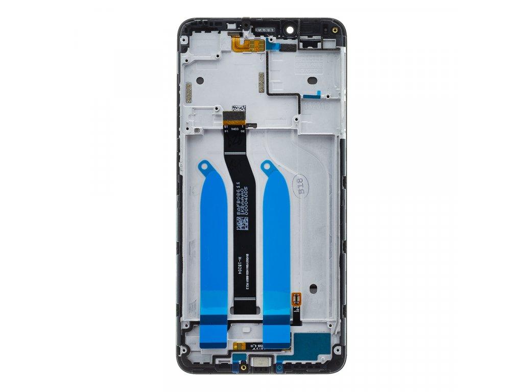 LCD Display + Dotyková Deska + Přední Kryt pro Xiaomi Redmi 6/6A Black (Service Pack)