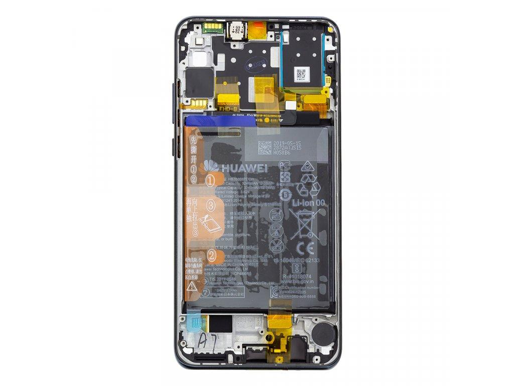 Huawei P30 Lite LCD Display + Dotyková Deska + Přední Kryt Black (pro 48MP foto) (Service Pack)