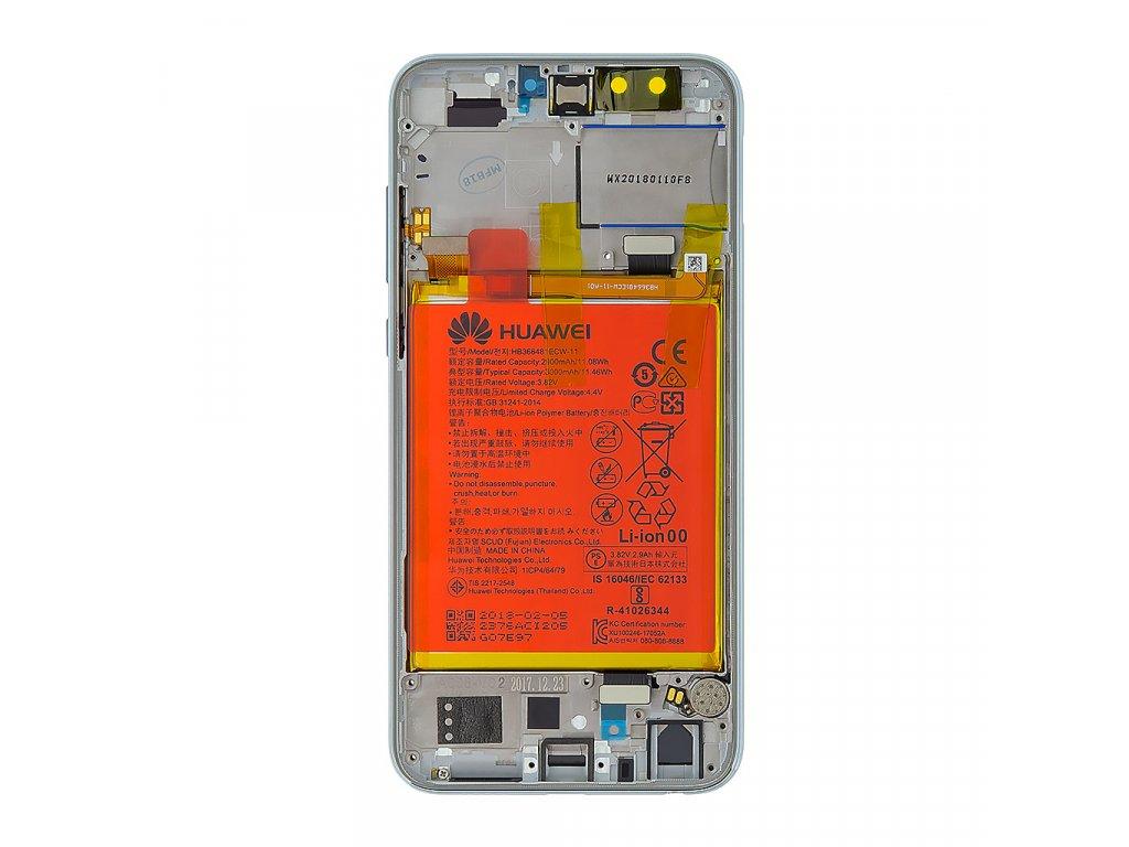 Honor 9 Lite LCD Display + Dotyková Deska + Přední Kryt Gray (Service Pack)