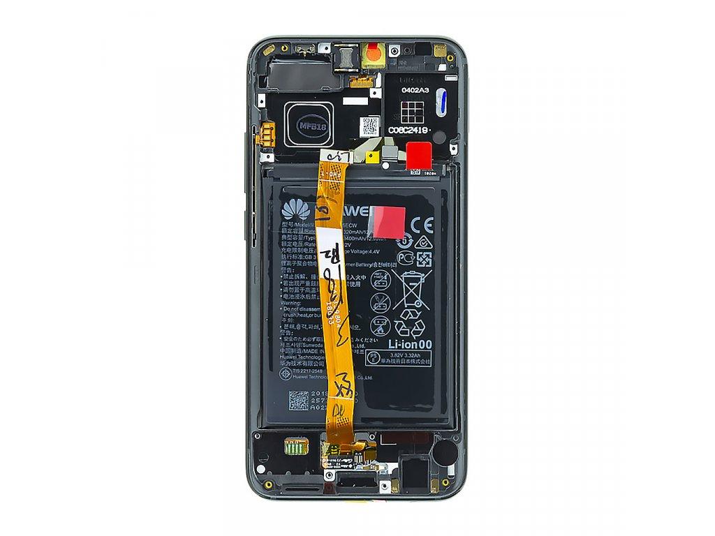 Honor 10 LCD Display + Dotyková Deska + Přední Kryt Black COL-L29 (Service Pack)