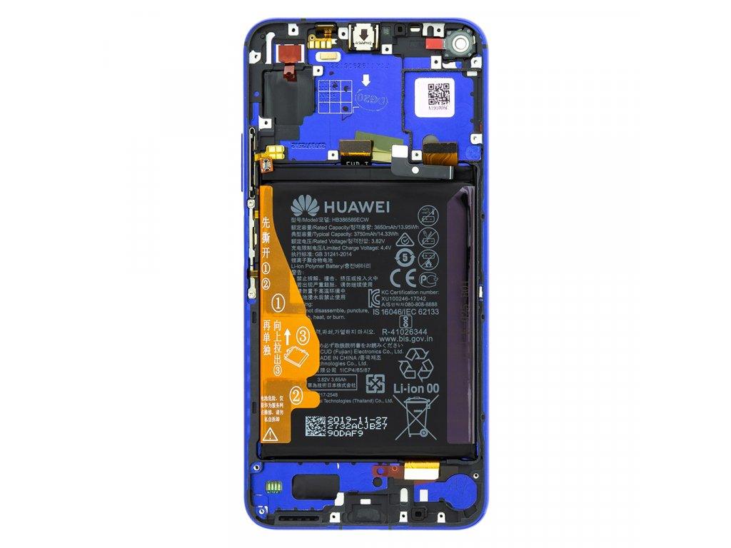 Honor 20 / Huawei Nova 5T LCD Display + Dotyková Deska + Přední Kryt Blue (Service Pack)