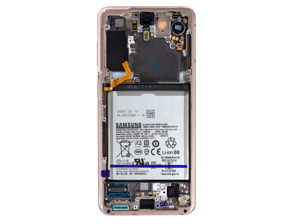 LCD display + Dotyk Samsung SM-G991 Galaxy S21 Phantom Violet + Baterie (Service Pack)