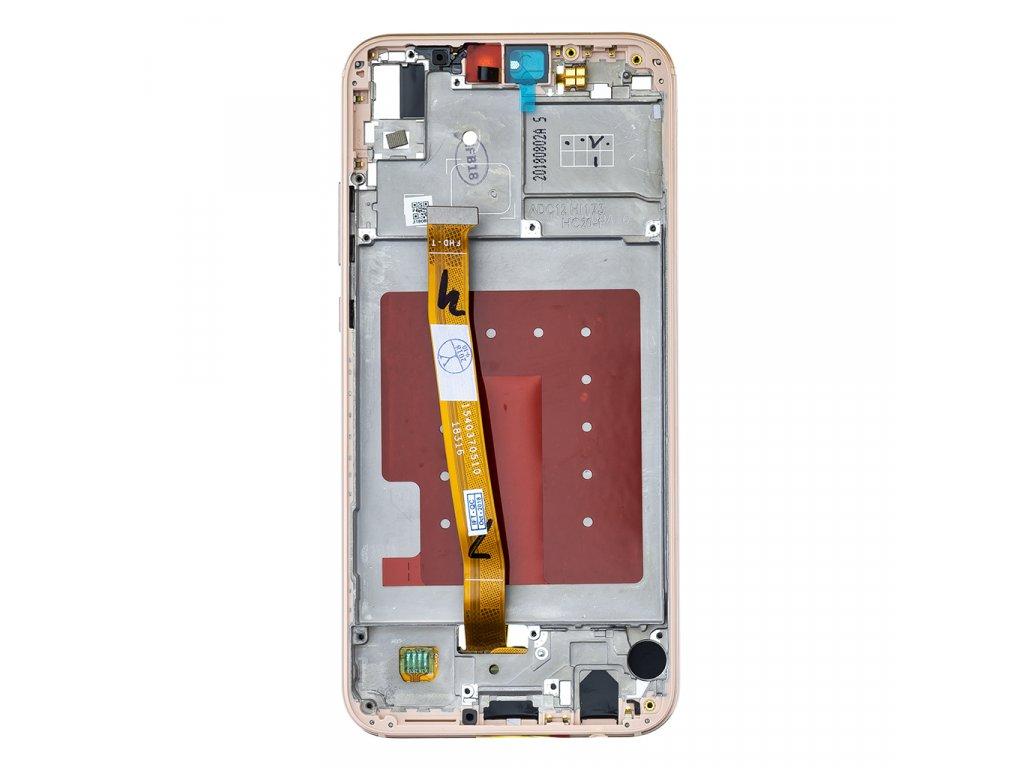 Huawei P20 Lite LCD Display + Dotyková Deska + Přední Kryt Pink