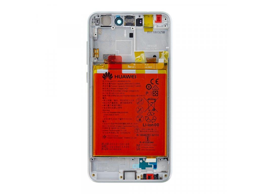 Huawei P9 Lite 2017 LCD Display + Dotyková Deska + Přední Kryt White (Service Pack)
