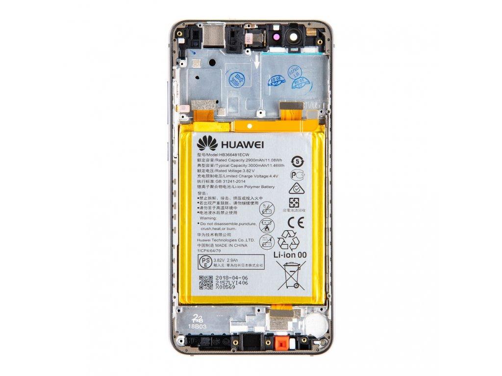 Huawei P10 Lite LCD Display + Dotyková Deska + Přední Kryt + Baterie Black