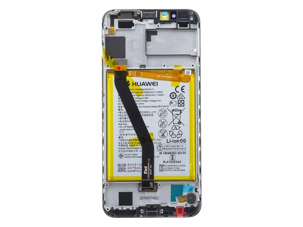 Honor 7A LCD Display + Dotyková Deska + Přední Kryt Black AUM-TL20 (Service Pack)