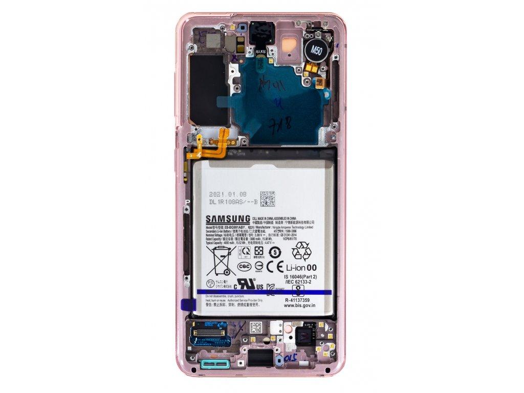 LCD display + Dotyk Samsung SM-G991 Galaxy S21 Phantom Pink + Baterie (Service Pack)