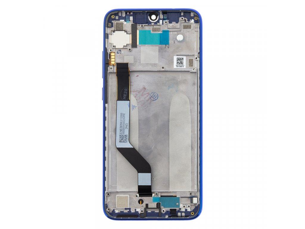 LCD Display + Dotyková Deska + Přední Kryt pro Xiaomi Redmi Note 7 Blue (Service Pack)