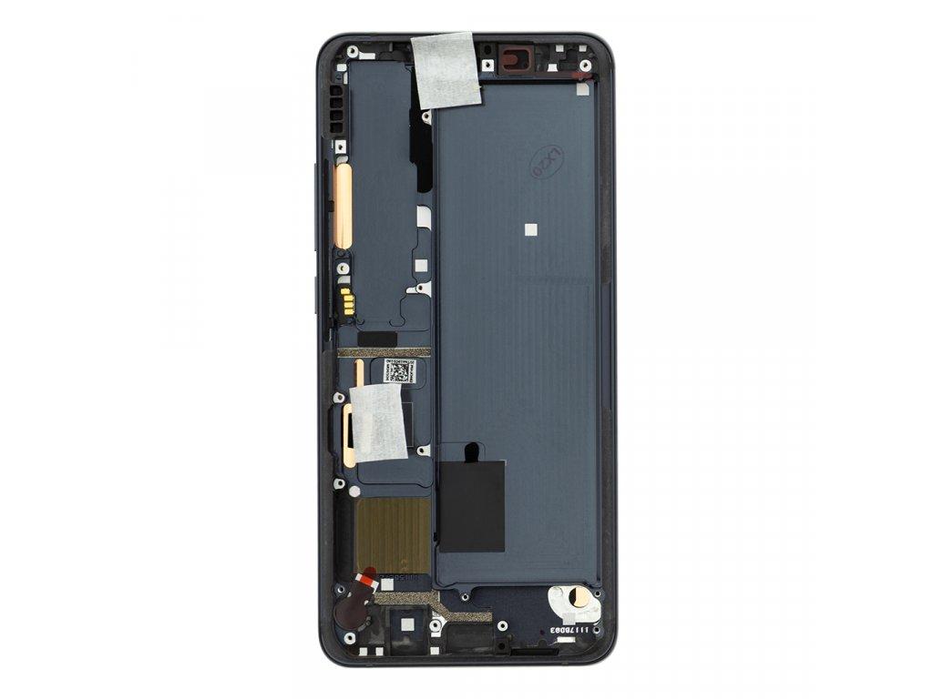 LCD Display + Dotyková Deska + Přední Kryt pro Xiaomi Mi Note10 Black (Service Pack)