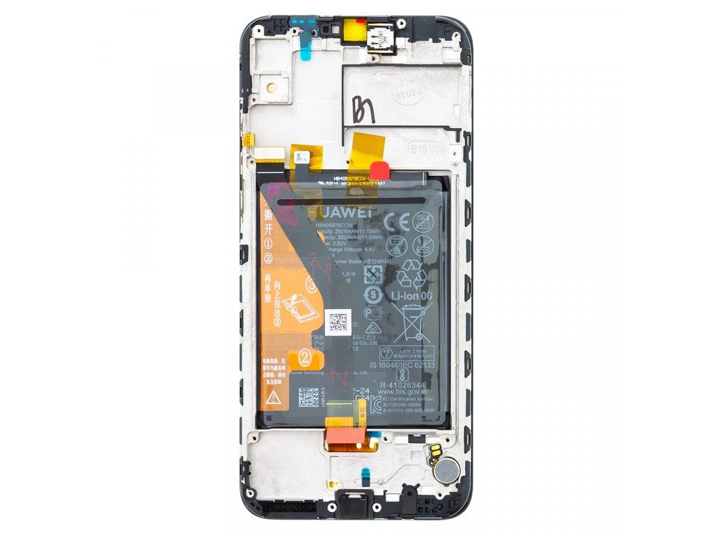 Honor 8A LCD Display + Dotyková Deska + Přední Kryt Black JKT-L21 (Service Pack)