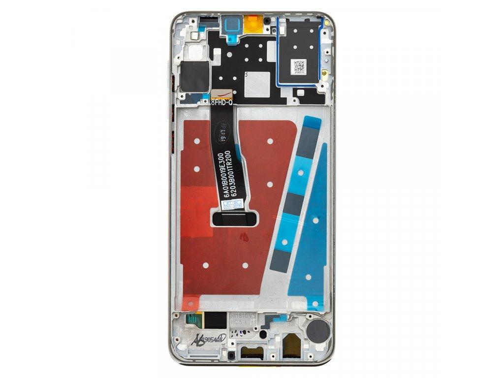 Huawei P30 Lite LCD Display + Dotyková Deska + Přední Kryt White (pro 48MP foto)