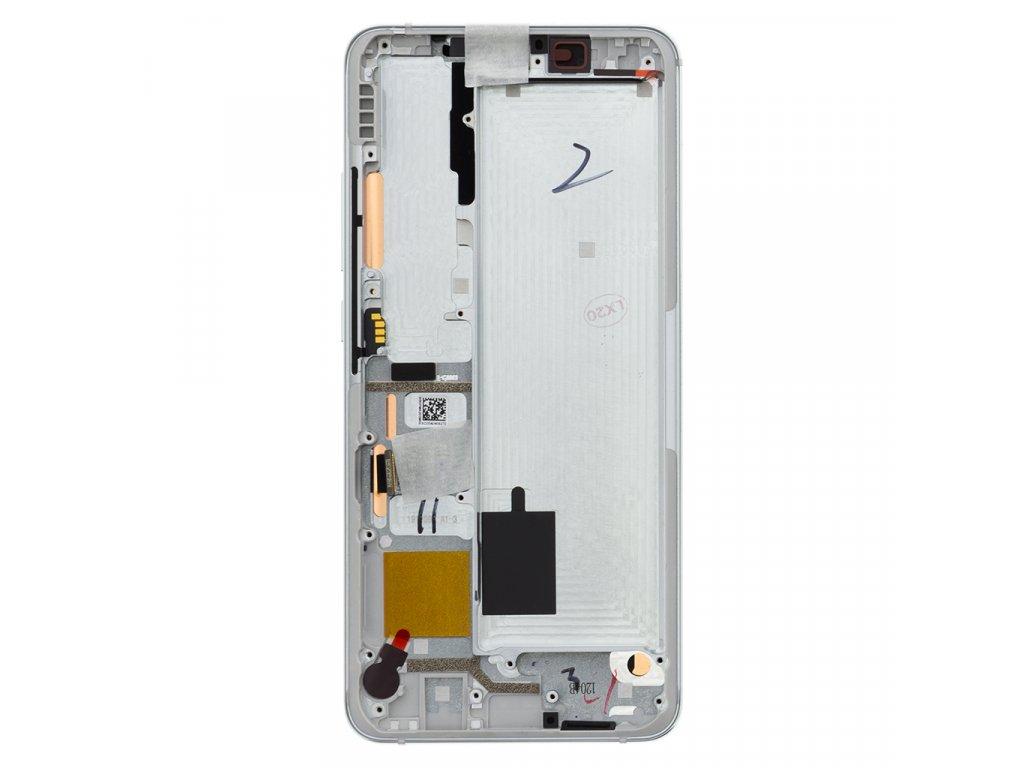 LCD Display + Dotyková Deska + Přední Kryt pro Xiaomi Mi Note10 White (Service Pack)