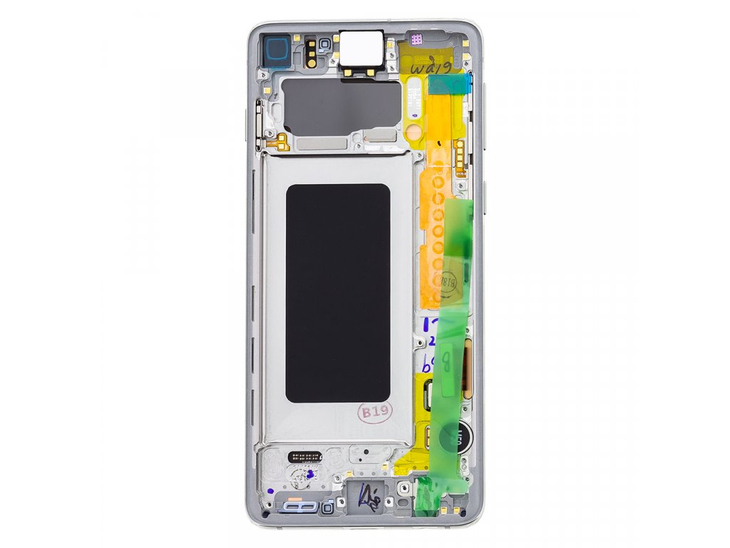 LCD display + Dotyk Samsung G973 Galaxy S10 White (Service Pack)