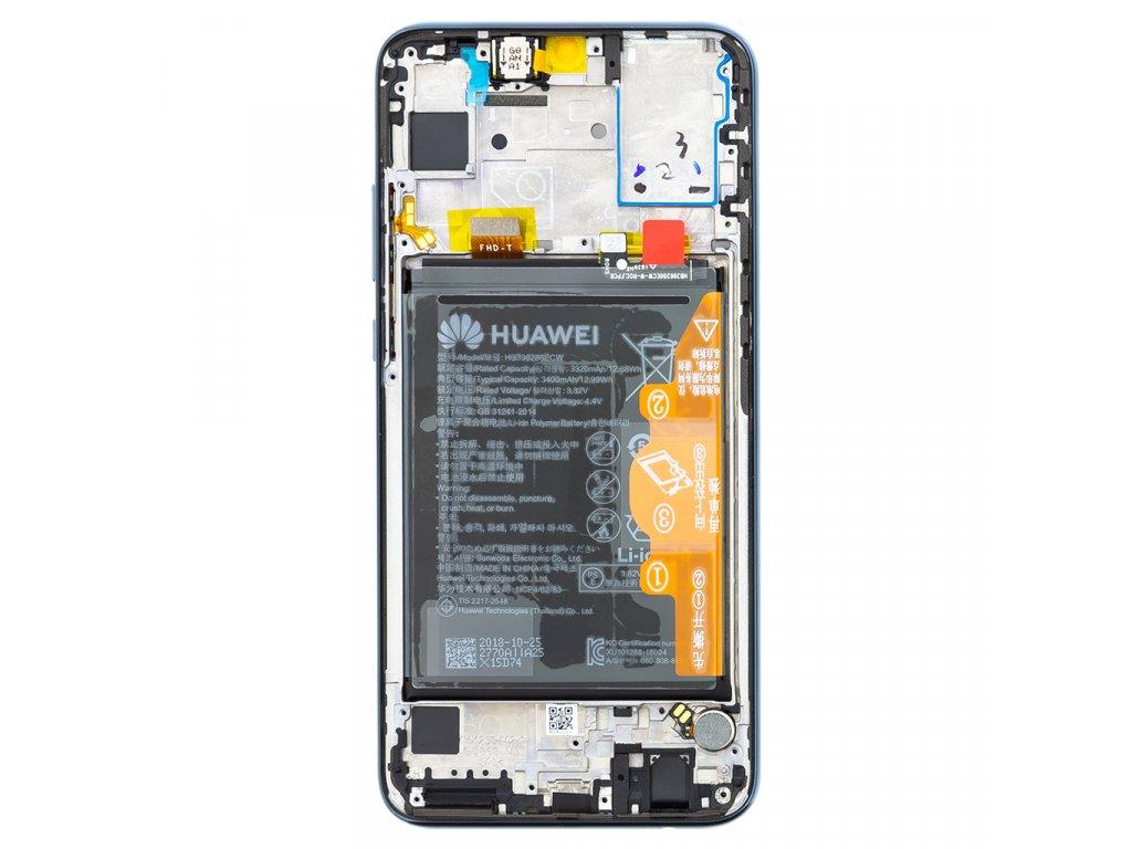 Honor 10 Lite LCD Display + Dotyková Deska + Přední Kryt Black HRY-LX1 (Service Pack)