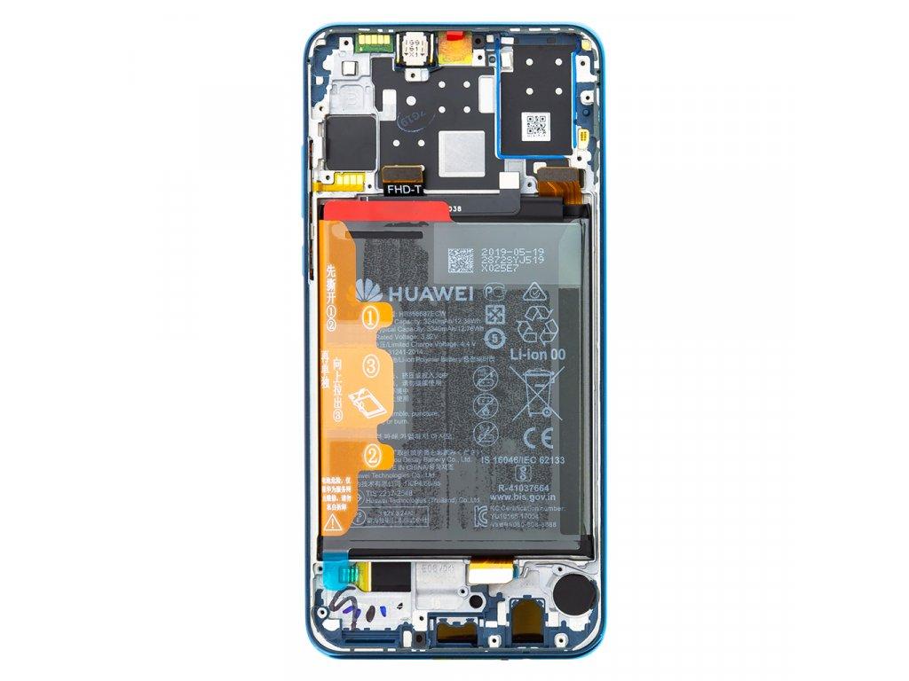 Huawei P30 Lite LCD Display + Dotyková Deska + Přední Kryt Blue (pro 48MP foto) (Service Pack)