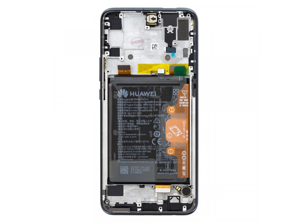 Honor 9X LCD Display + Dotyková Deska + Přední Kryt Black (Service Pack)
