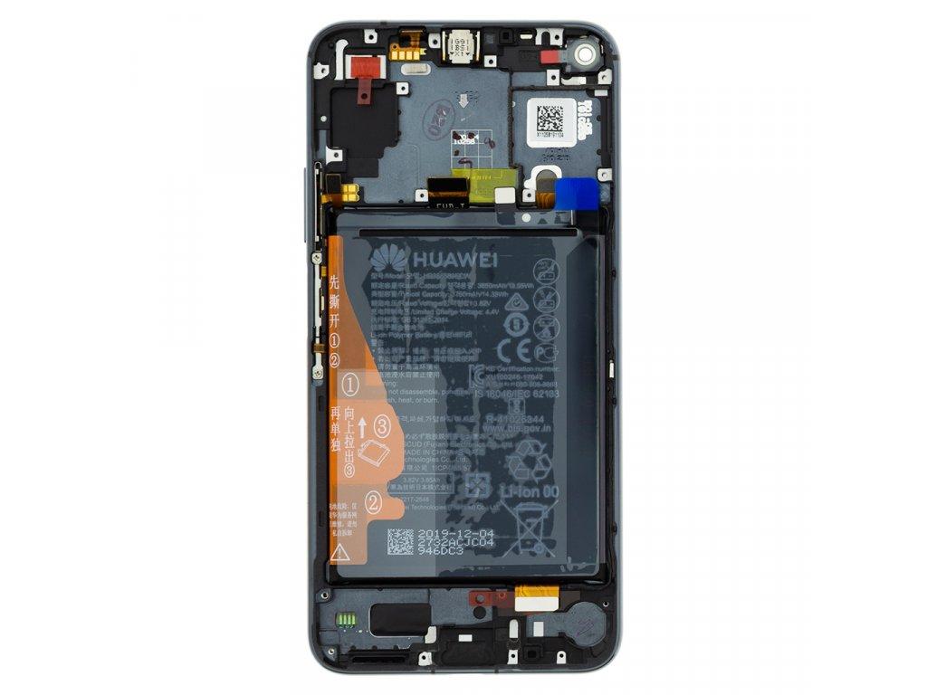 Honor 20 / Huawei Nova 5T LCD Display + Dotyková Deska + Přední Kryt Black (Service Pack)
