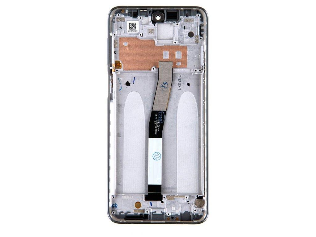 LCD Display + Dotyková Deska + Přední Kryt pro Xiaomi Redmi Note 9 Pro/9S Glacier White