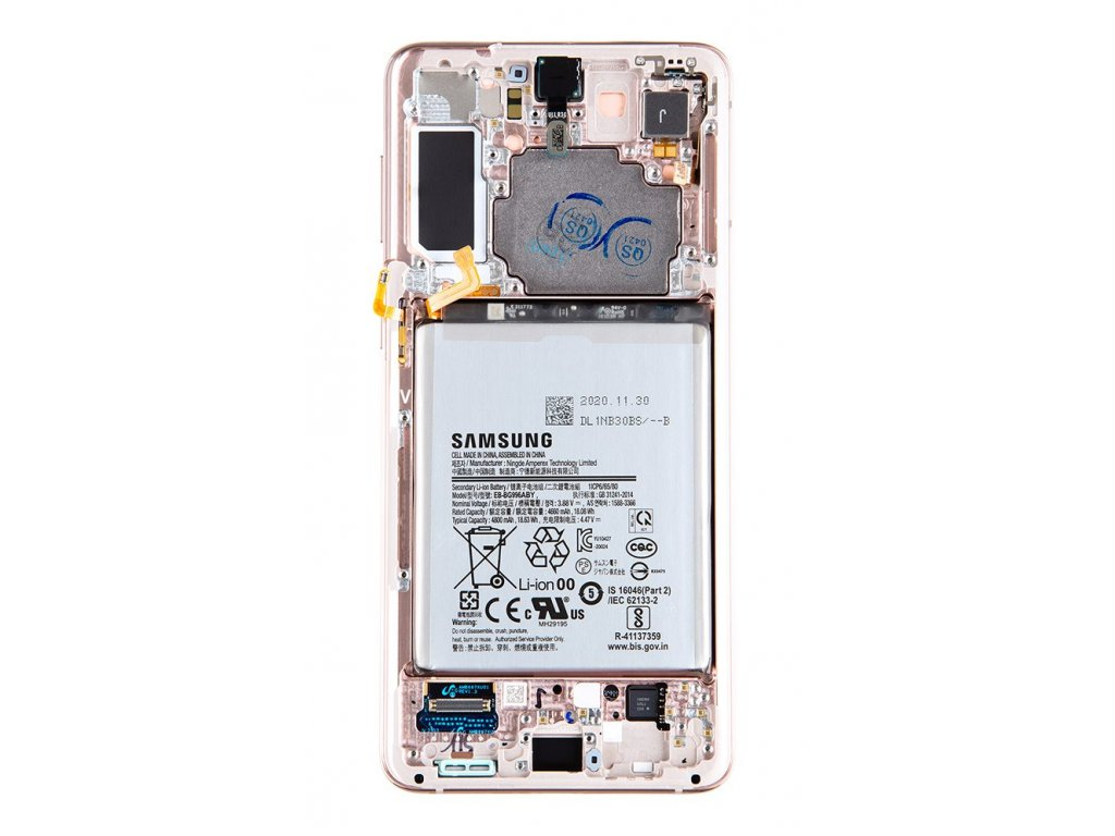 LCD display + Dotyk Samsung SM-G996 Galaxy S21+ Phantom Violet + Baterie (Service Pack)