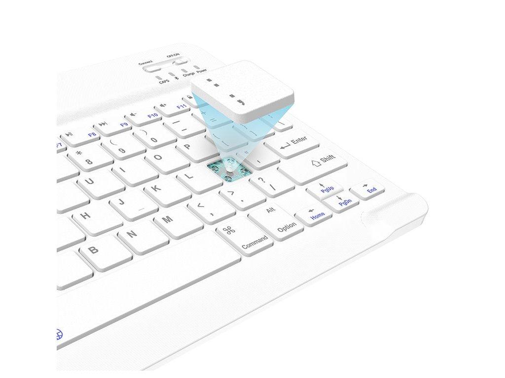 USAMS BH655 Kryt s Klávesnicí pro iPad Air 10.9 Purple/White