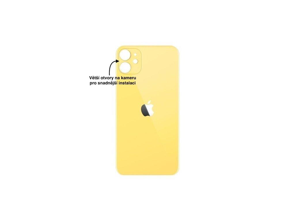 iPhone 11 zadni sklo zluta