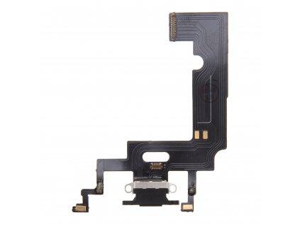 Nabíjecí konektor iPhone XR flex včetně mikrofonu Black