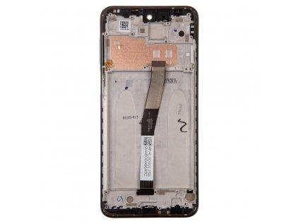 LCD Display + Dotyková Deska + Přední Kryt pro Xiaomi Redmi Note 9 Pro Black (Service Pack)