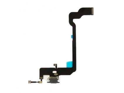 Nabíjecí konektor iPhone XS flex včetně mikrofonu Black