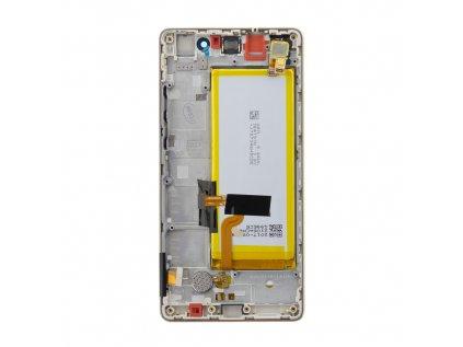 Huawei P8 Lite LCD Display + Dotyková Deska + Přední Kryt Gold (Service Pack)