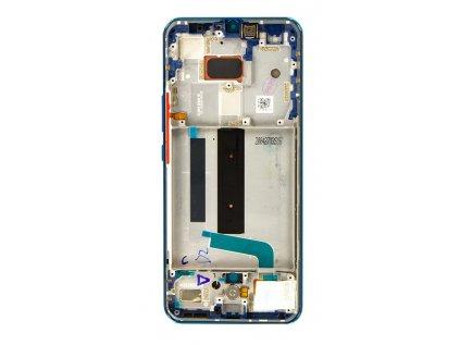 LCD Display + Dotyková Deska + Přední Kryt pro Xiaomi Mi 10 Lite 5G Blue Green (Service Pack)