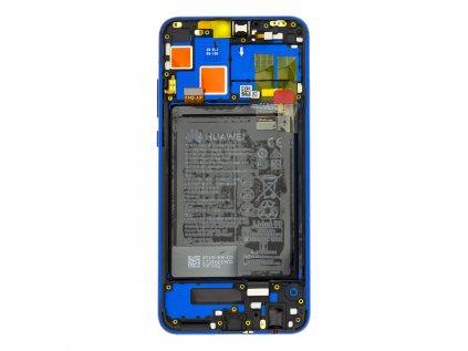 Honor 8X LCD Display + Dotyková Deska + Přední Kryt Blue (Service Pack)