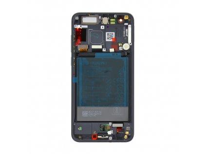 Honor 9 LCD Display + Dotyková Deska + Přední Kryt Black (Service Pack)