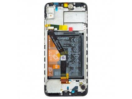 Huawei Y6 2019 LCD Display + Dotyková Deska + Přední Kryt Black (Service Pack)