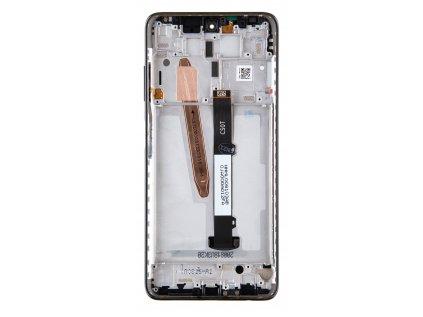 LCD Display + Dotyková Deska + Přední Kryt pro Xiaomi Poco X3 Black (Service Pack)