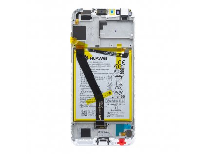 Honor 7A LCD Display + Dotyková Deska + Přední Kryt White (Service Pack)