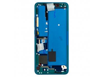 LCD Display + Dotyková Deska + Přední Kryt pro Xiaomi Mi Note10 Green (Service Pack)